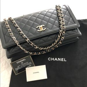 CHANEL Single Flap Quilted Leather